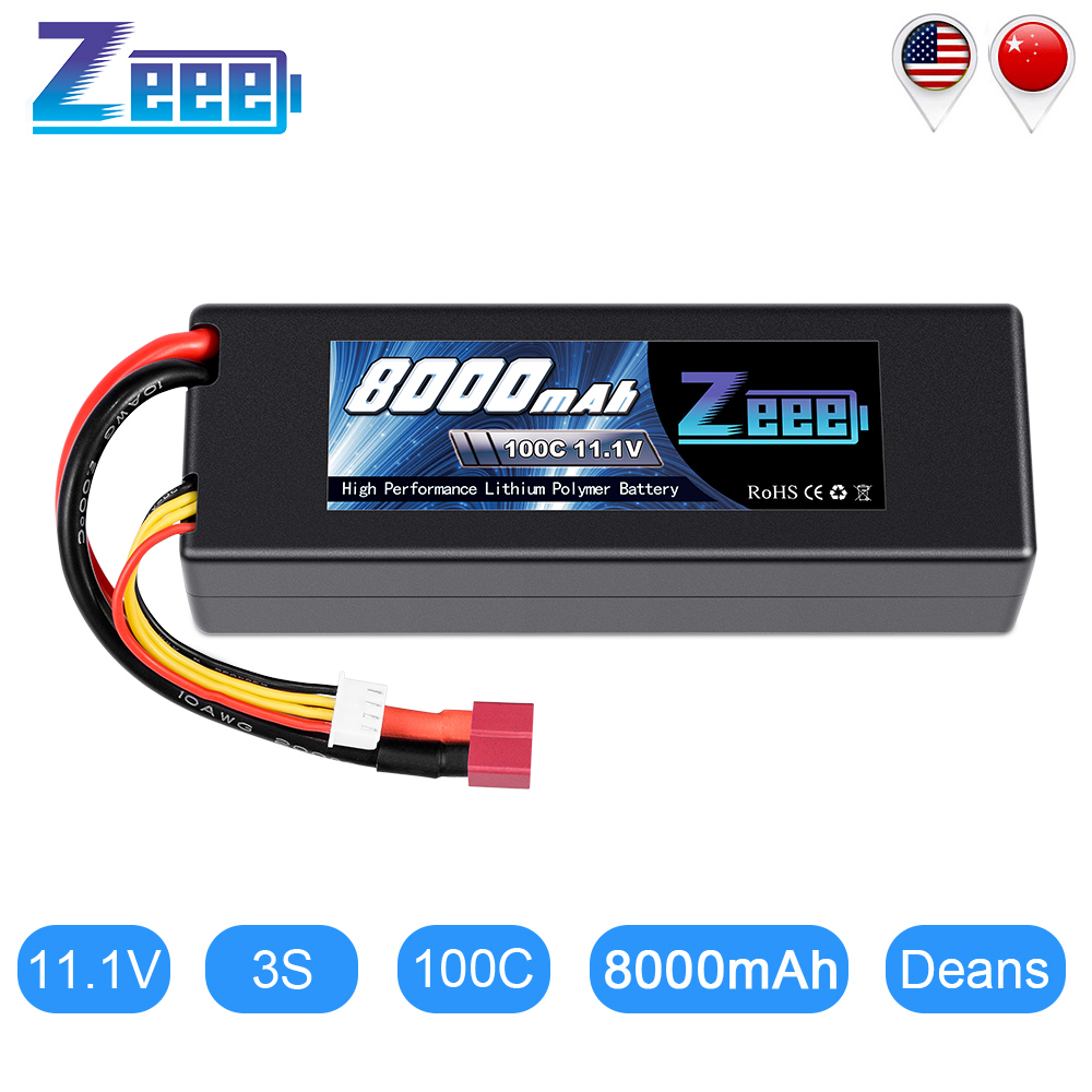 Zeee <font><b>Lipo</b></font> Battery 11.1V <font><b>8000mAh</b></font> 100C <font><b>3S</b></font> <font><b>Lipo</b></font> Battery with Deans Plug for RC Car Truck RC Truggy FPV Airplane Boat Buggy image
