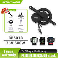 Bafang Motor BBS02B BBS02 36V 500W Motor Medio 8fun Bicycle eléctrico Ebike kit de conversión DPC18 C965 Ebike monitor