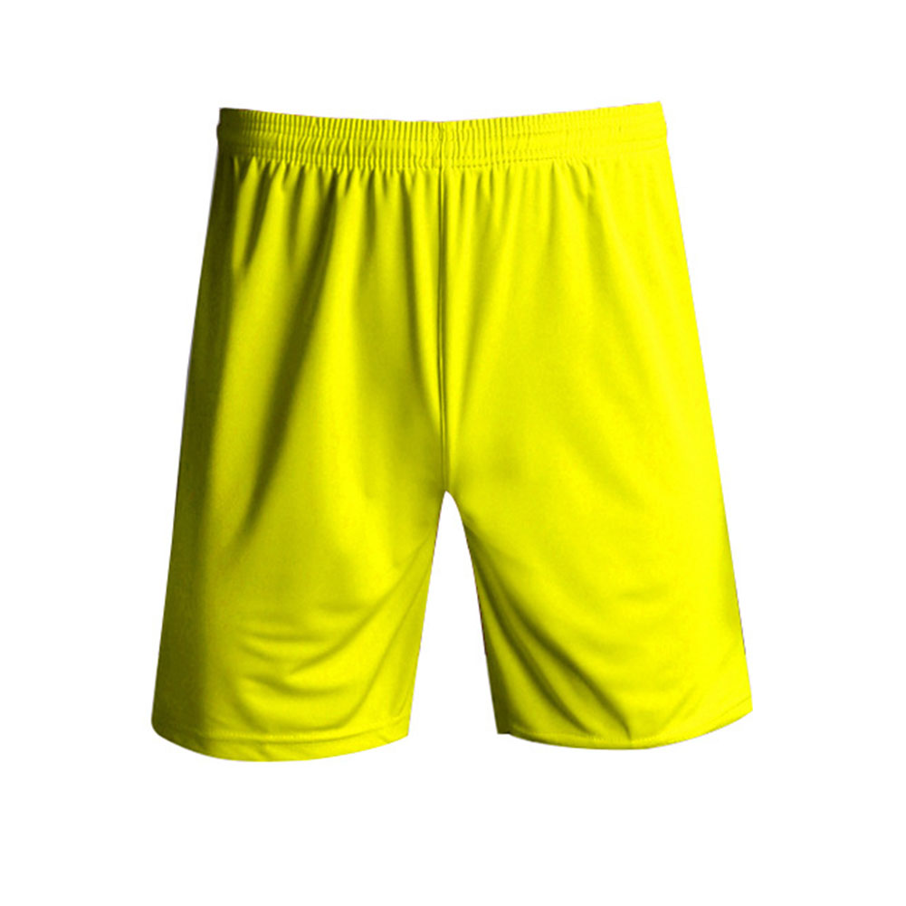 Быстросохнущие спортивные мужские шорты с эластичной резинкой на талии для тренировок, бега, спортзала, пробежек, занятий спортом, фитнесом, футболом, дышащие, одноцветные - Цвет: Цвет: желтый