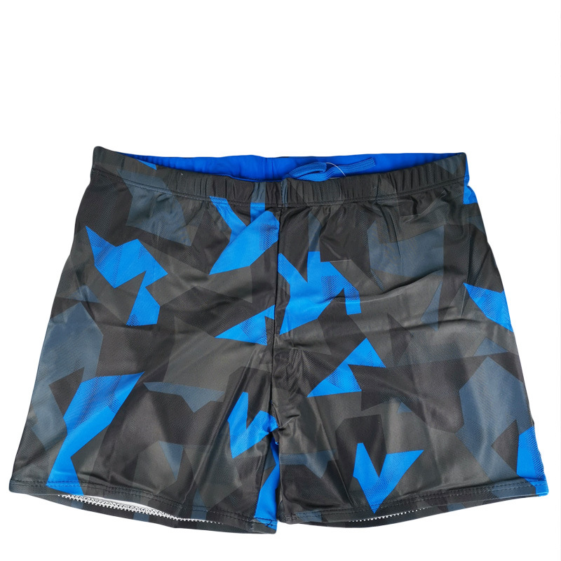 Three-Color Selectable New Style Men Geometry Contrast Color Pattern Swimming Trunks Hot Selling Swimming Trunks Polyester Fiber