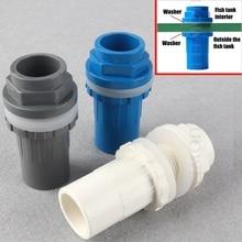 Pipe-Connectors Aquarium Drainage-Parts Splint-Joint Outlet Water-Inlet Fish-Tank PVC