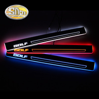 4pcs LED Door Sill For Volkswagen Golf 6 MK6 2009 2012 Ultra thin Acrylic Dynamic LED Welcome Light Scuff Plate Pedal