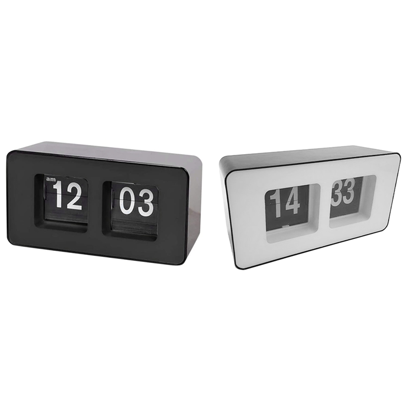 Automatic Flip Clock,Digital Page Down Clock,for Family Bedroom 1 PCS