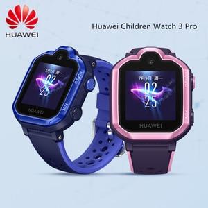 Оригинальные детские часы Huawei 3 Pro   Детские Смарт-часы 4G с HD камерой, видеозвонком, SOS, вызовом, умные часы для iPhone Android