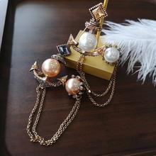 Корабль якорь сплав винтажные Броши для женщин жемчуг золотой