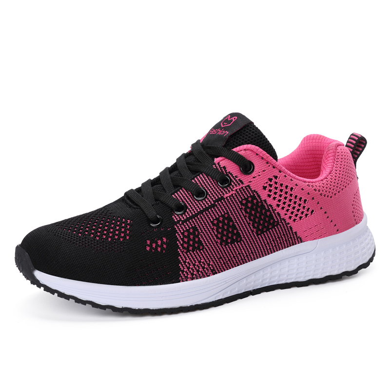 2020 New Women Shoes Flats Fashion Casual Ladies Shoes Woman Lace-Up Mesh Breathable Female Sneakers Zapatillas Mujer Feminino 2