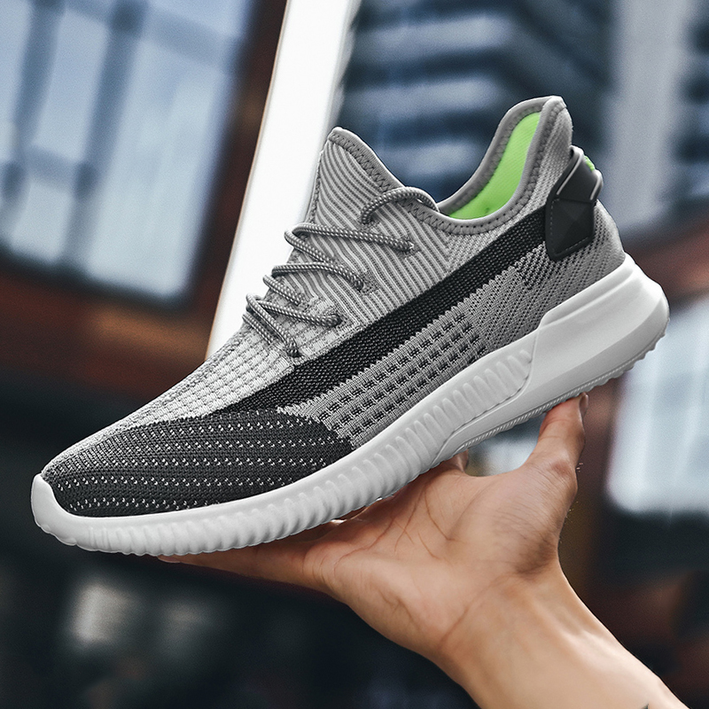 2021 new men sneakers shoes light breathable casual shoes mesh fashion gray large size sports walking brand 46 size students 5