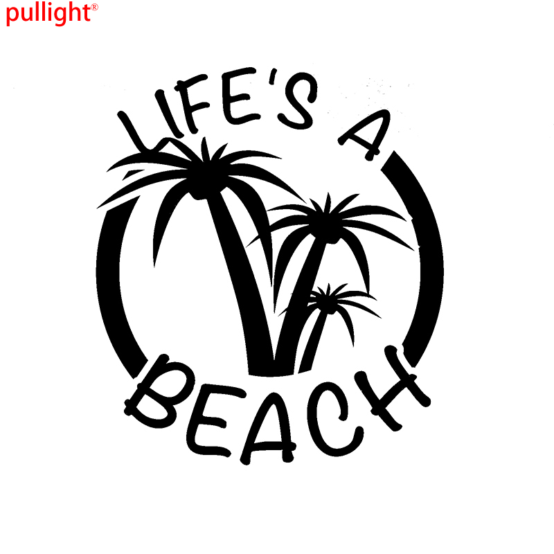 Cool Graphics Life's A Beach Funny Adventure Car Vinyl Decal Sticker Caravan Motorbike Laptop image