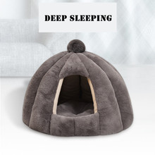 Pet Cat Cave Tent House Kennel Winter Warm Dog Nest Foldable Sleeping Lounger Mat High Quality Puppy Basket Small Dog Cat Bed