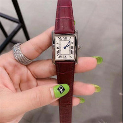 2020 New Series Watch Leather Strap fashion Quartz Movement Square Watch Authentic Waterproof Watch Gifts