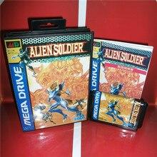 Mdゲームカード エイリアンソルジャー日本カバーボックスとマニュアルmdメガジェネシスビデオゲームコンソール 16 ビットmdカード