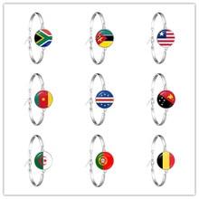 África do sul, moçambique, libéria, camarões, cabo verde, papua nova guiné, argélia, bélgica, portugal bandeira nacional corrente pulseira presente