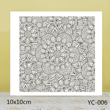 ZhuoAng Lotus Flower Background Clear Stamps For DIY Scrapbooking/Card Making/Album Decorative Silicon Stamp Crafts zhuoang dense leaves background clear stamps for diy scrapbooking card making album decorative silicon stamp crafts