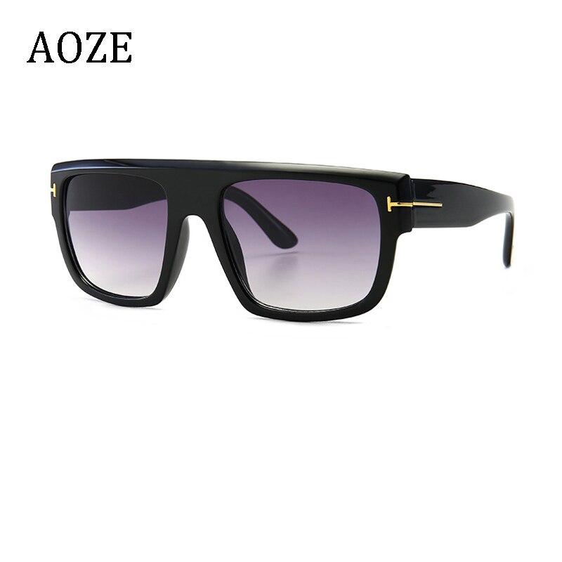 AOZE 2020 модные стильные темные Мужские квадратные солнцезащитные очки в винтажном классическом стиле