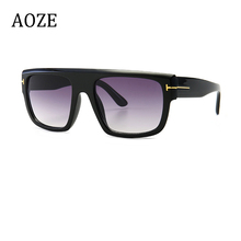 AOZE 2020 Fashion Style Square Shield Men's Tom Sunglasses V