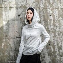 LANMREM новая осенняя и зимняя Оригинальная дизайнерская однотонная женская одежда с длинными рукавами Толстовка с капюшоном WJ82701L