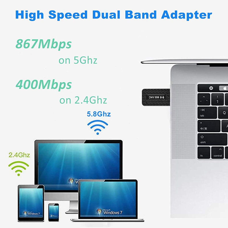 5Ghz Wifi USB Wifi Adapter AC 1300Mbps Wi-fi Adapter USB 3.0 Ethernet Wi Fi Antenna Dual Band 2.4G&5G Wifi Module For PC Laptop 4