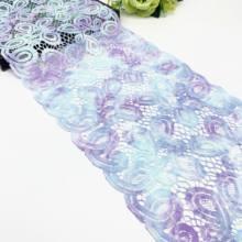 3y/lote largura 9 polegada (23cm) grosso elástico estiramento guarnição do laço para lingerie costura artesanato diy vestuário tecido laço vestuário acessório