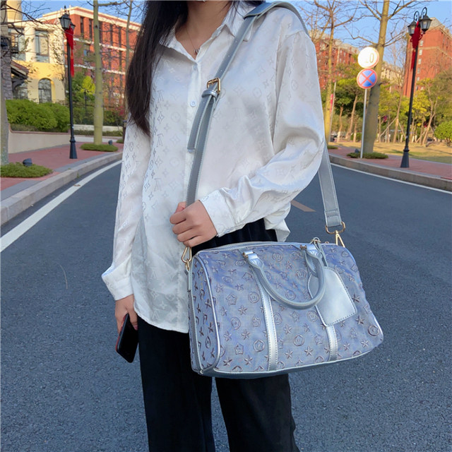 louis brand Tote Package Transparent Flower Pattern Crossbody Bags Fashion Ladies Single Shoulder Bags Convenient Travel Bags