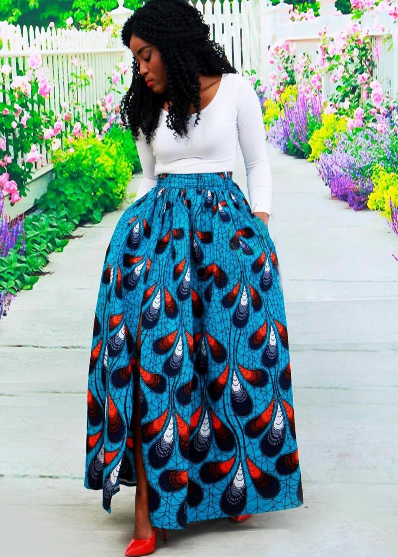 Африканские платья Женская одежда Bazin Riche платья 2020 африканские традиционные модные юбки из полиэстера с принтом Африканская одежда      АлиЭкспресс
