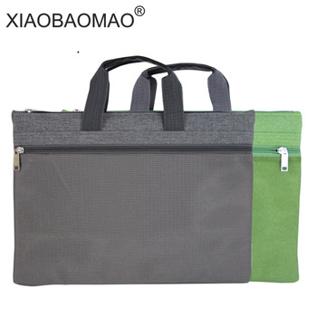 Mesh Oxford file bag a4 Document Bag A4 Zipper Double-Layer a4 documents file bag folder Office Briefcase Business free shipping a4 file bag size leather shell business folder fichario papelaria documento bolsa paper documents w007