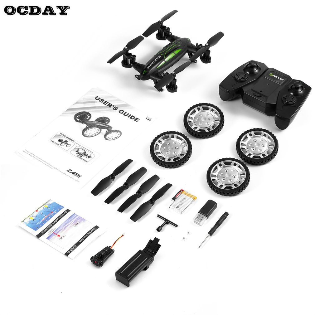 OCDAY Multifunction Mini RC Drone Kit With HD Camera 9