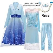Frozen elsa menina princesa vestido de inverno roupas da menina do bebê crianças festa de halloween cosplay traje crianças anna vestido 3 a 12y