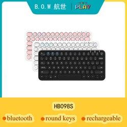 B.O.W małe Bluetooth bezprzewodowy 78 klawiatura z klawiszami  Ultra-Slim przewodowy USB multimedialny Mini klawiatura dla komputer stancjonarny Laptop Mac