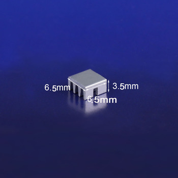 4000PCS 6.35*6.3*3.5mm Aluminum MOS Mini IC Chipset Cooling Cooler Heat Sink