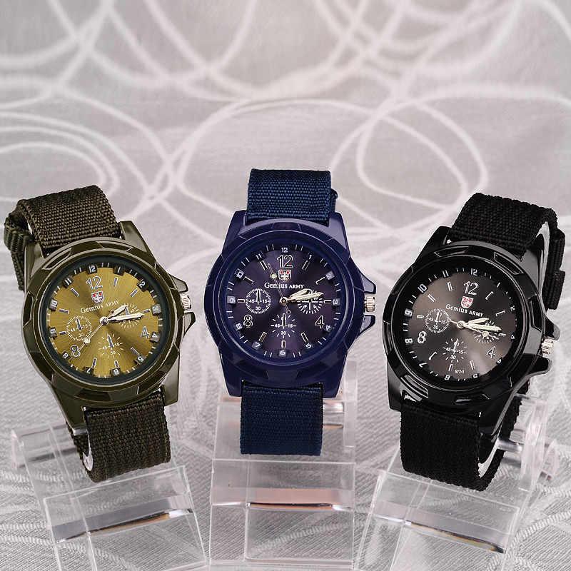 2019 גברים שעון צבאי צבא זכר שעונים בד בד רצועת אופנה גברים של ספורט שעון שעוני יד שעון גברים שעון