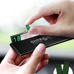 Image 3 - Teléfono de tarjeta de estacionamiento temporal hid de un solo clic, cajón ultrafino, accesorio para coche, placa de número de teléfono luminosa