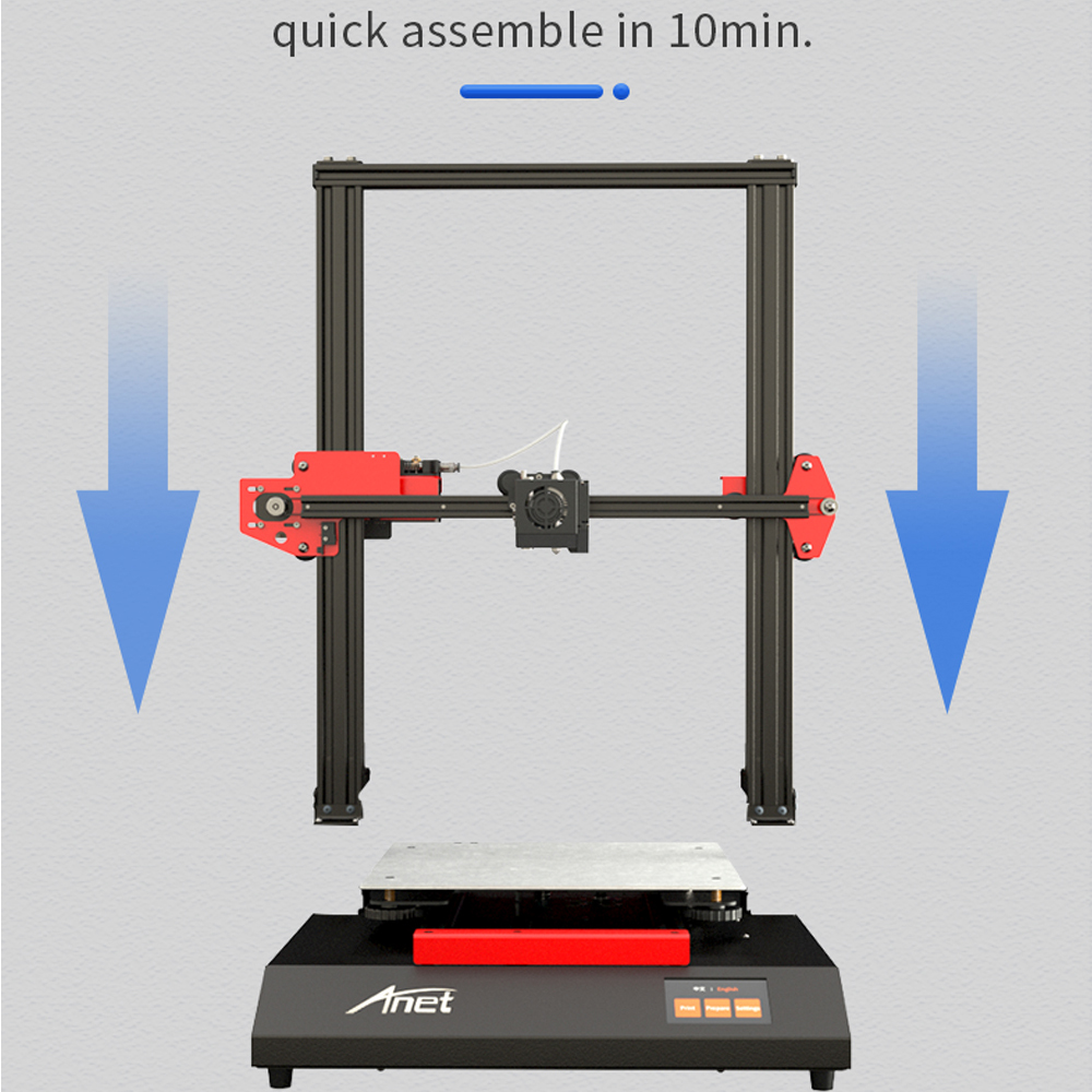 ANET ET5 ET4 X 3D Printer with Auto Leveling/Offline Printing/Touch Screen and Power Failure Detection