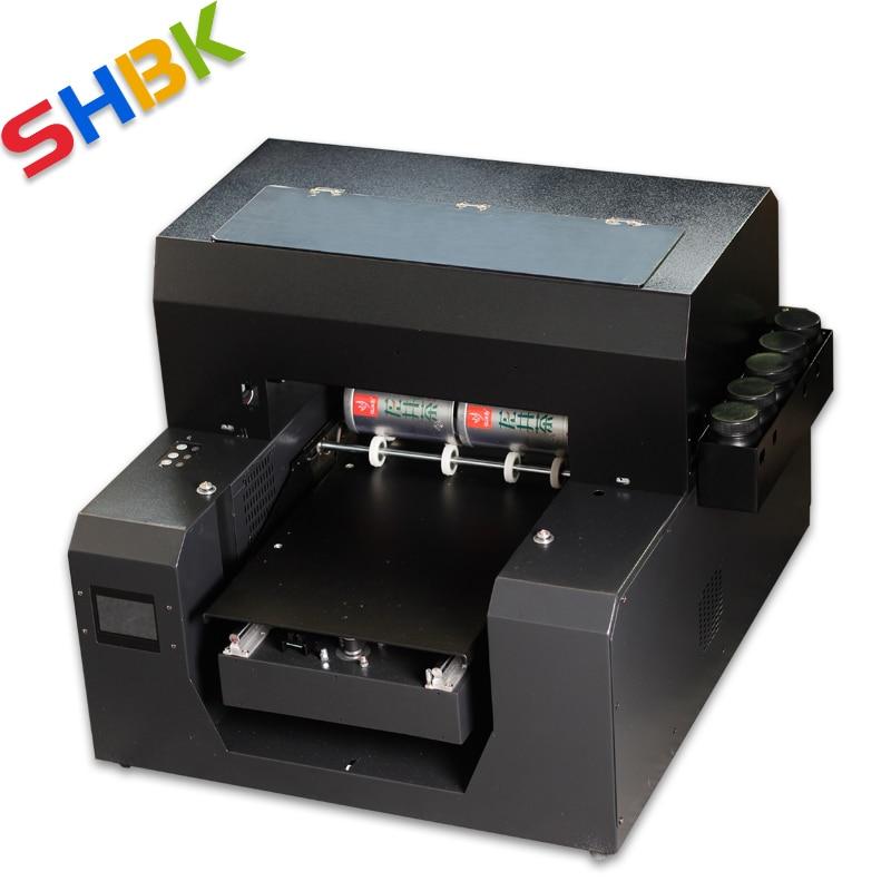 Цилиндрический УФ-принтер, винные бутылки, кружки, бутылки для воды, круглые коробки УФ-принтеров Размера A3, бесплатная доставка