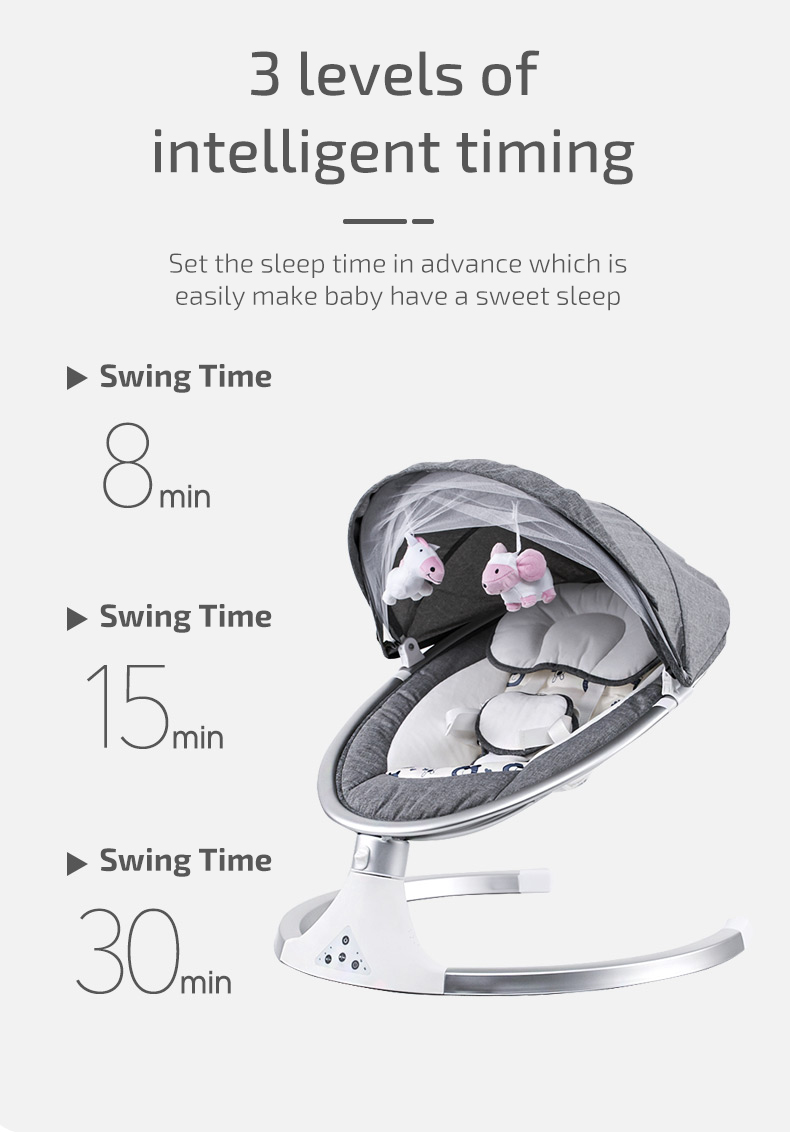 H764860f3837045db83b9e584c6b660a9u Infant Shining Smart Baby Rocker Electric Baby Cradle Crib Rocking Chair Baby Bouncer Newborn Calm Chair Belt Remote Control