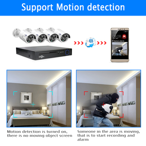 Image 5 - Hiseeu H.265 CCTV система POE NVR комплект 8CH 4MP Водонепроницаемая POE IP камера пулевая система камер домашней безопасности камера система наружная низкая lux Onvif