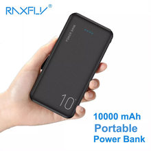 RAXFLY Power Bank 10000mAh Portable Charger Powerbank For Samsung Xiaomi mi Mobile External Battery 10000 mAh Poverbank Phone(China)