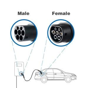 Image 5 - 32A EV fiche câble Type 2 à Type 2 IEC 62196 2 EV fiche de charge avec câble de 5 mètres TUV/UL Mennekes 2 connecteur