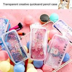 Piórnik Quicksand olej ołówek torby z zamkiem papiernicze torba typu worek portmonetka kosmetyczka PR sprzedaż