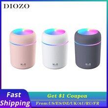 Portátil 300ml umidificador usb ultra-sônico dazzle cup aroma difusor névoa fria fabricante umidificador de ar purificador com luz romântica