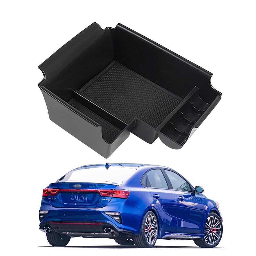 RUIYA Car Armrest Storage Box For Kia Forte 2020 Central Control Armrest Box Auto Interior Accessories Black