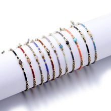 цены New Friendship Bracelets for Women Bohemian Crystal Beads Bracelet Braided Rope Charms Thin Multicolour Jewelry Adjustable