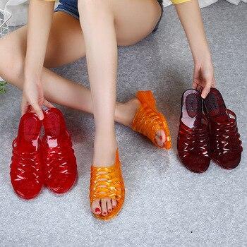 Women's Flip Flop Jelly Shoes Slides Women Summer Slippers Totem  Plastic Slippers Outside Wear Summer Shoes Ladies Flat Slipper