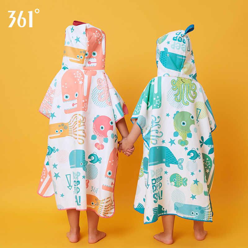 361 Bambini SwimTowel Quick Dry Asciugamano In Microfibra per il Nuoto Per Bambini Accappatoio Ultra Assorbente Morbida Accappatoi con cappuccio e cuffie per le Ragazze Dei Ragazzi