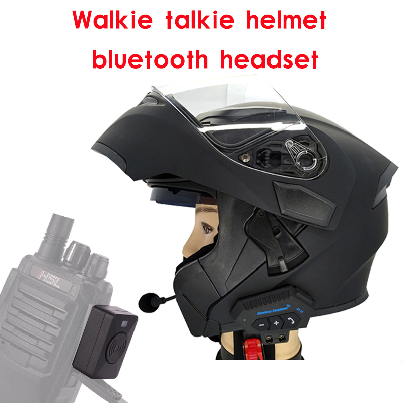 Motorcycle Helmet Walkie Talkie Bluetooth Headset Wireless Headphones For Off Road/Flip Up/ Haif Face/Full Face Helmet BaoFeng