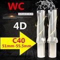 WC C40 4D SD 51 52 53 54 55 мм Индексируемые вставные сверла U быстрая дрель мелкое отверстие Тип дрели для WC Indexa вставка