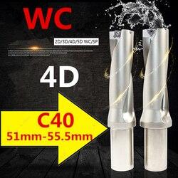 WC C40 4D SD 51 52 53 54 55 mm wiertła z płytkami wymiennymi U szybki wiertła płytkich otworów wiertła typu do WC Indexa wkładka
