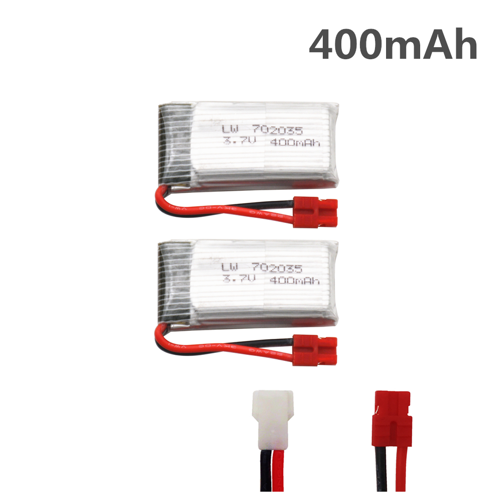 2pcs 3.7V 400mah Lipo Battery For SYMA X15 X15C X15W X5A-1 H107 KY101 E33C X4 E33 U816A V252 H6C H31 RC Quadcopter Parts battery