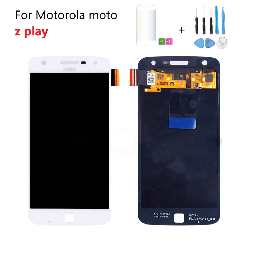 Fro Motorola Moto Z Play display AMOLED LCD Display <font><b>XT1635</b></font>-01 <font><b>XT1635</b></font>-02 <font><b>XT1635</b></font>-03 LCD Display + Touch Glass Digitizer image