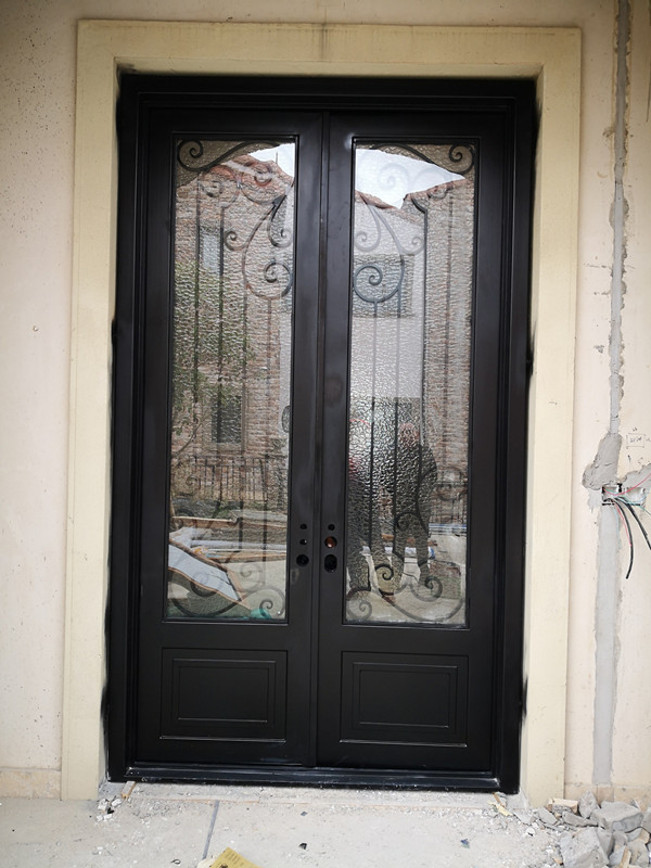 Hench Customize Door Iron Gate Design Wrought Iron Doors