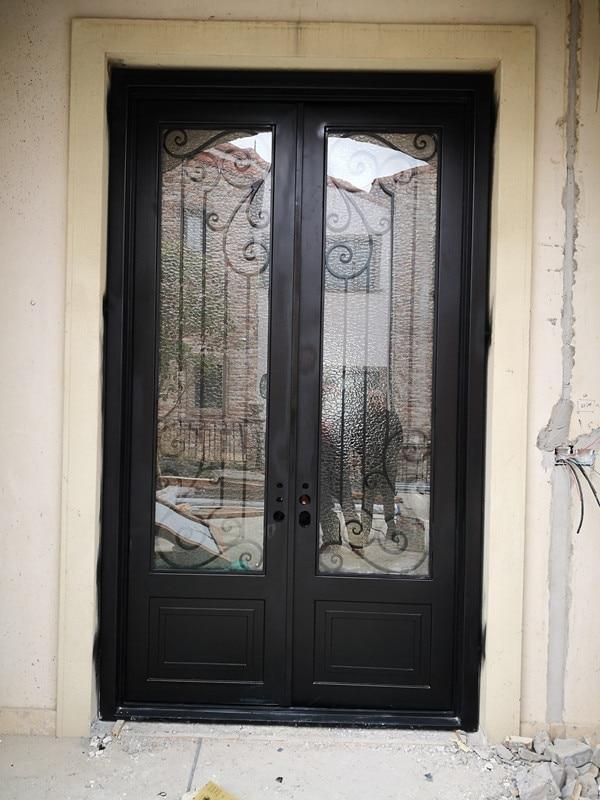 Hench Customize Door Iron Gate Design Wrought Iron Doors